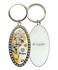 Look at this 'Be Happy' Key Ring on #zulily today!