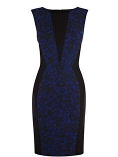 New Fashion Elegant Blue Column  Little Party Dress