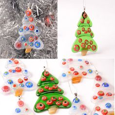 Modern glass christmas tree Choose your color 2 x 3 by Artdefleur