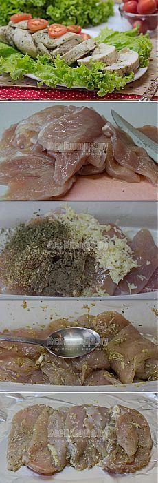 Как приготовить буженину из куриного филе в фольге в духовке, рецепт с фото