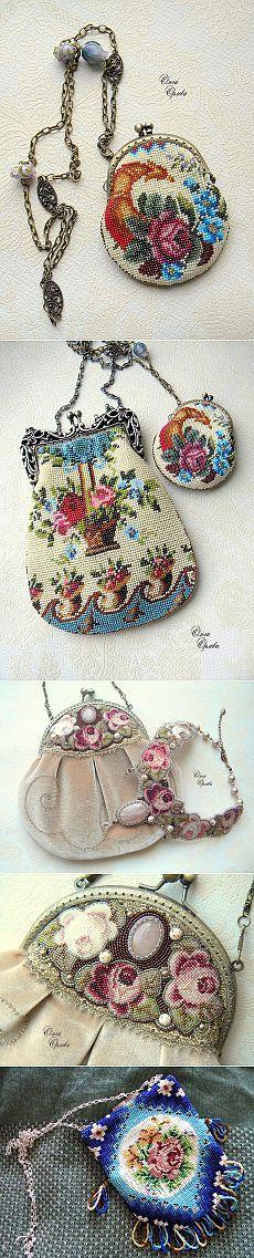 Идеи для вдохновения: Бисерные сумочки мастерицы Ольги Орловой .
