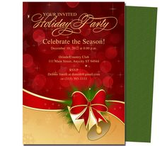 Party Invitations : Bells Holiday Party Template
