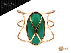 Bracelete Oval Verde - Gabriela Aidar