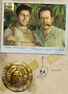 Nathan Drake (w/ Victor Sullivan) Nathan Drake, Indiana Jones, Victor Sullivan, Uncharted Drake's Fortune, Uncharted Series, Fictional Heroes, Adventure Games, Bond, Sully