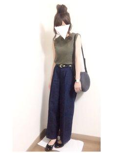 JEANASISのTシャツ・カットソー「Wフェイスノースリーブ/569346 」を使ったi-waのコーディネートです。WEARはモデル・俳優・ショップスタッフなどの着こなしをチェックできるファッションコーディネートサイトです。