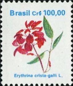 Selos: Brazilian Flora. Erythrina crista-galli L. (Brasil) (Flora) Mi:BR 2373,Yt:BR 1979,RHM:BR 682