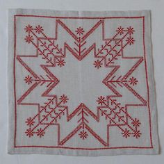 SWEDEN SNOW PATTERN EMBROIDERY TABLE MAT