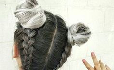 15 Ways To Rock The Double Bun Hairstyle - Society19 Two Buns Hairstyle, Braided Bun Hairstyles, Bohemian Hairstyles, Hairstyles Haircuts, Down Hairstyles, Hairstyle Ideas, Funky Hairstyles For Long Hair, Cute Little Girl Hairstyles, Short Hair Bun