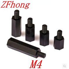 100PCS M4 Black Nylon Standoff M3*5/6/8/10/12/15/18/20/25/30/35+6 Male to Female nylon spacer  #Affiliate
