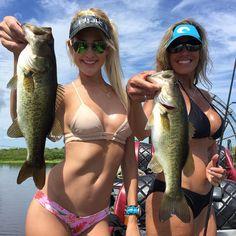 Boats girls bass fishing