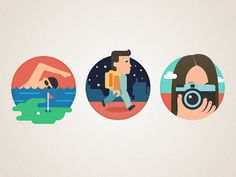 Dribbble - Character icon by Kimprinot Flat Design Icons, Icon Design, Flat Icons, Graphic Design Typography, Logo Design, App Design, Iconic Characters, Vector Characters, Study Design
