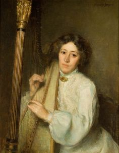 Harpist Alphonse Jongers Miss Florence