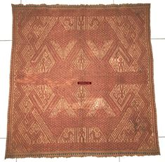 Fine Antiques & Art from WOVENSOULS - Singapore  932 Antique Sumatra Tampan Shipcloth Textile Weaving    Antique Tampan Shipcloth with large birds and people Gorgeous drawing An attempt has been made by the weaver to make this a symmetrical piece but the two halves are not precise mirror images as is to be expected. Hand woven cotton base cloth and threads. Has blue borders. 64 cm x 59 cm. Estimated to be from the late 1800s *** This item has lived a hearty life participating in the lives of…