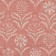 pretty pattern printed on linen