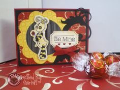 Be Mine Valentine card by scrapendipitystudio on Etsy, $6.50