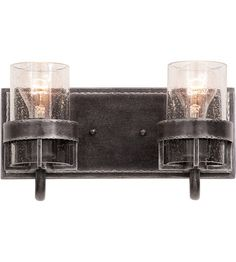 Amplify the industrial appeal of your master bathroom, powder room, or guest bath with the Kalco Lighting Bexley Bathroom Vanity Light. Glass Bathroom, Bathroom Vanity Lighting, Vintage Pendant Lighting, Wall Fixtures, Bath Light, Vintage Iron, Steel Wall, Glass Material, Lighting Solutions