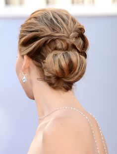The J-Law Low Bun | 21 Celebrity Hairstyles For When You Don't Want To Wash Your Hair