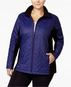 Ideology Plus Size Quilted Jacket--Only at Macy's >>> Read more  at the image link.