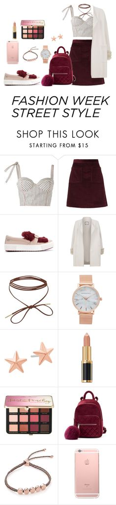 """NYFW STREET STYLE"" by mr829824 on Polyvore featuring moda, Rosie Assoulin, A.P.C., Karl Lagerfeld, Max & Moi, Aéropostale, Michael Kors, Balmain, Sephora Collection y Monica Vinader"