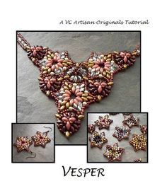 Star Motif Super Duo Bead Pattern, Bead Weaving Tutorial, Pattern,  Step by Step with Detailed Diagrams.  Vesper