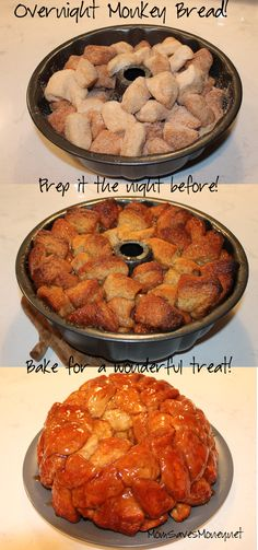 Monkey bread that you can prep the night before! Yummy and easy!