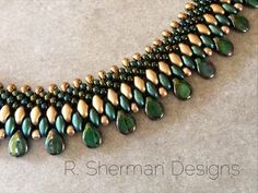 Tutorial to create a Kumihimo Beaded Collar, using with 2-hole and Pip beads. Reg. $12.00, Now $10.20 (through November 2016) This PDF tutorial is 7 pages, and contains all the details and step-by-step photos you need to complete your Beaded Collar Necklace, with tips to keep you on track. Final necklace length will be approximately 16.5 (42cm) depending on the clasp you choose. Braided portion of the Collar is approximately 15.5 (39.5cm). Techniques used: 8 element Kongo Gumi (round…