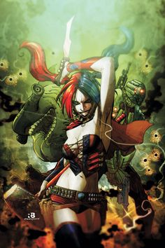 They're a team of death-row super villains recruited by the government to take on missions so dangerous – they're sheer suicide!  Harley Quinn!  Deadshot!  King Shark!