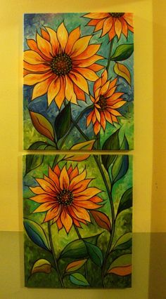 Great idea for a stained glass mosaic StainedGlassMosaic is part of Glass painting - Mosaic Flowers, Stained Glass Flowers, Faux Stained Glass, Stained Glass Projects, Stained Glass Patterns, Mosaic Art, Mosaic Glass, Fused Glass, Estilo Floral