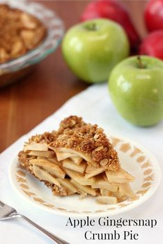 Apple Gingersnap Crumb Pie www.veganmotherhubbard.com