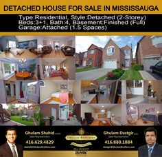 Residential for Sale In Mississauga For Showing Please Call (416)-629-4829 & (416)-880-1884 Description  Wow! Location! Location! Ready To Move In! Spectacular Detached House In 'Deer Run' Area! Features High Ceilings In Foyer Area Upgraded Kitchen W/Quartz Counter Tops, Overlooking Formal Dining Room. Features Spacious Master Bedroom! And Other 2 Bedrooms, Filled With Sunshine. Prof.Finished Basement W/A Kitchenette. Steps Away From Go Station, Shops, Schools! Deer Running, Kitchen Upgrades, High Ceilings, Kitchenette, Quartz Countertops, Counter Tops, Detached House, Foyer, Schools