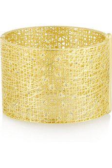 Yossi Harari 18-karat gold diamond cuff | NET-A-PORTER