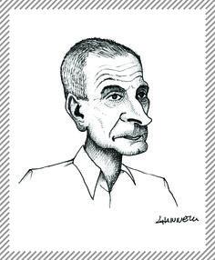 Dino Buzzati, 1906 - 1972, cronista e scrittore. Il suo libro Il deserto dei Tartari trasfigurò la redazione milanese del Corriere della Sera, per cui lavorava. #AlbumMilano #DinoBuzzati