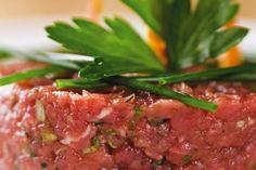 Pravý tatársky biftek kreabirdjobox Gordon Ramsay, Beef, Food, Meat, Essen, Gordon Ramsey, Meals, Yemek, Eten