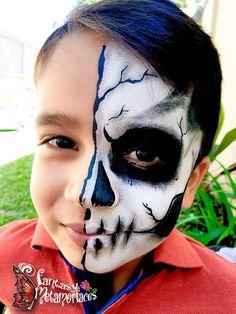 Half skull face paint