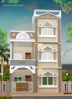 House Front Wall Design, House Main Gates Design, Single Floor House Design, Modern House Floor Plans, Modern House Facades, Simple House Plans, Bungalow House Design, Floor Design, 2bhk House Plan