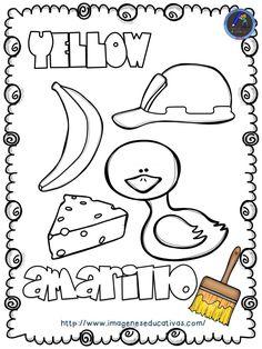 Course of crafts to teach the colors Preschool Spanish, Teaching Spanish, Teaching Kids, Kids Learning, Preschool Curriculum, Preschool Worksheets, Preschool Activities, Homeschooling, Teaching Secondary