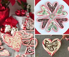 Candy Cane Hearts With Melted Chocolate Recipe | The WHOot