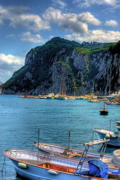 Marina Grande, Capri, Italy--ITALIA by Francesco -Welcome and enjoy- frbrun Capri Italia, Napoli Italy, Capri Island, Villa, Over The River, Water Reflections, Visit Italy, Europe, Wonderful Places