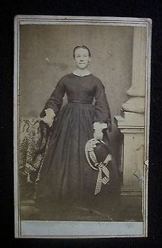 Civil War Era 1860s CDV Photograph Tax Stamp Davenport Iowa Woman | eBay