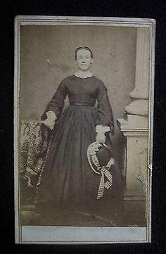 Civil War Era 1860s CDV Photograph Tax Stamp Davenport Iowa Woman | eBay