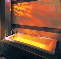 """Wellness Badewanne mit LED-Lichttherapie + Fernbedienung inkl. Chromoprogrammen, 180/80 cm, MUNDOO.  Erhältlich im Ebay-Shop """"Bluemabell"""""""