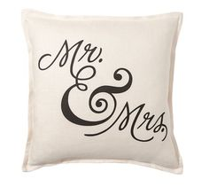 Sentiment Ivory Pillow Cover | Pottery Barn