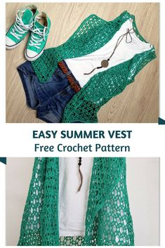 Easy Crochet Summer Vest Pattern For The Young At Heart