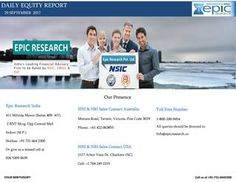 Daily equity report by epic research of 29 september 2017  NIFTY Future sep series ended above 9750, last session nifty show selling pressure and made a low 9695 it's near Aug month low, however nifty sharp bounce back at lower level.
