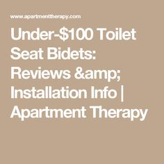 Under-$100 Toilet Seat Bidets: Reviews & Installation Info   Apartment Therapy