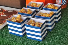 Cute for popcorn at sports birthday party