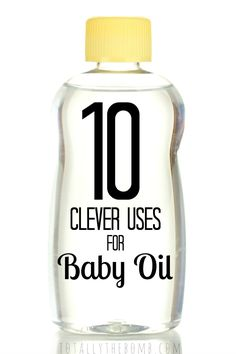 Whether I had a baby or not, most of my life, I've had baby oil on hand just so I can do these 10 Clever Uses for Baby Oil. Life Hacks, Life Tips and Tricks Diy Cleaning Products, Cleaning Solutions, Cleaning Hacks, Household Products, Household Tips, Baby Oil Uses, Diy Spring, Spring Crafts, Helfer