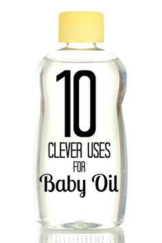 10 Clever Uses for Baby Oil @jamieharrington