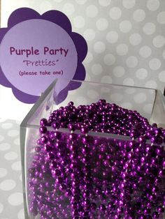 Little Big Company | The Blog: Very Pretty and Creative Purple First Birthday by Jackie from Jack and Kate