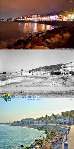 Malecon Photos comparing Puerto Vallarta of the past with the Puerto Vallarta of the present. http://www.puertovallarta.net/gallery/puerto-vallarta-historical-comparisons.php  Fotos que comparan el pasado de la ciudad con el presente. http://www.puertovallarta.net/espanol/galeria/comparaciones-historicas.php  #puertovallarta #vallarta #antesydespues #beforeandafter